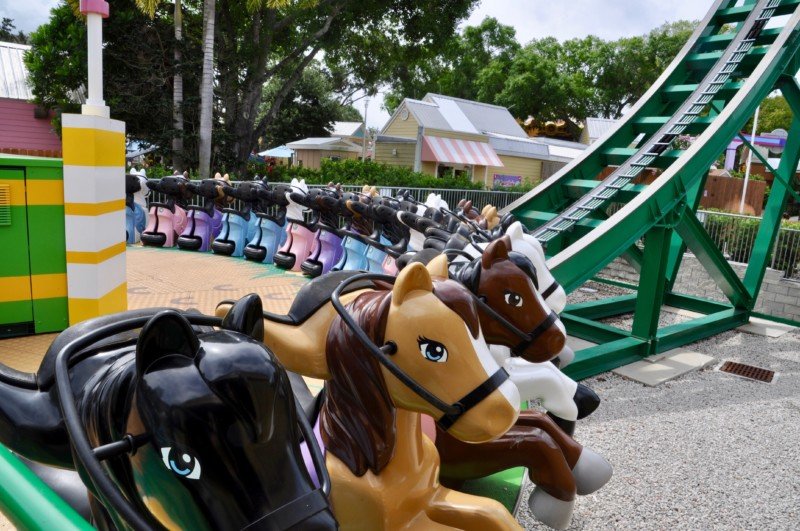 Adorable thrill ride at LEGOLAND theme park in Florida.