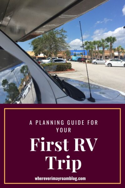 a planning guide for your first rv trip pin