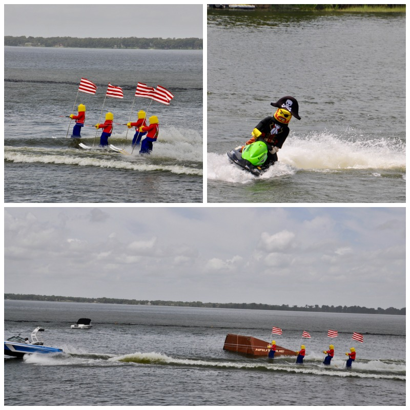 Fun water ski show at the LEGOLAND theme park.