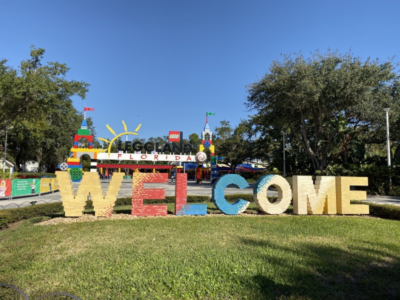 Legoland welcome sign florida