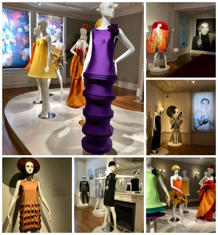 Pierre Cardin fashions on display at Rosecliff mansion