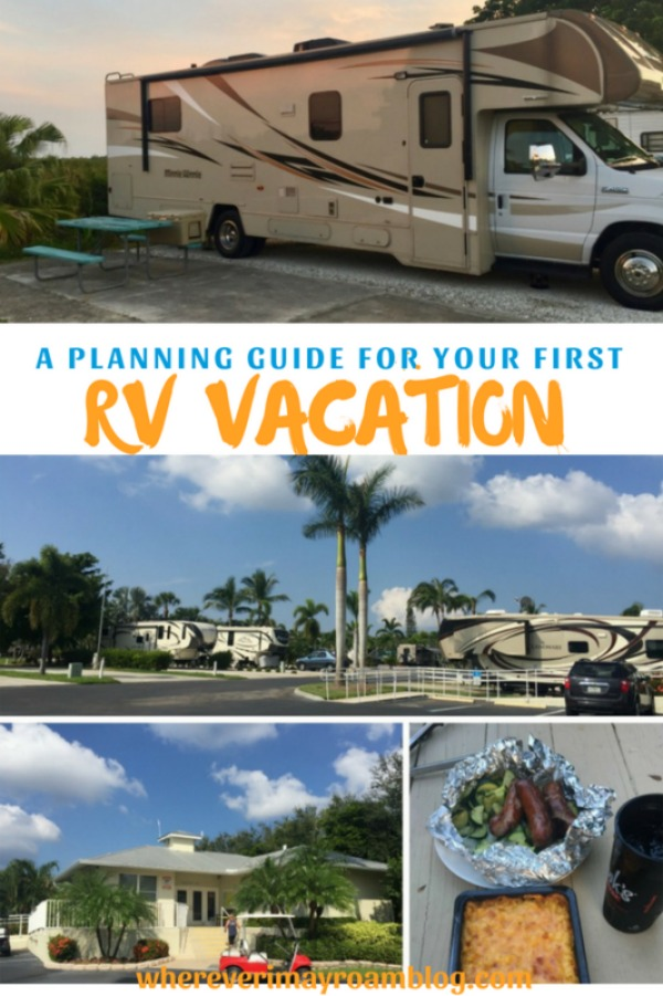 planning guide for first rv vacation pin