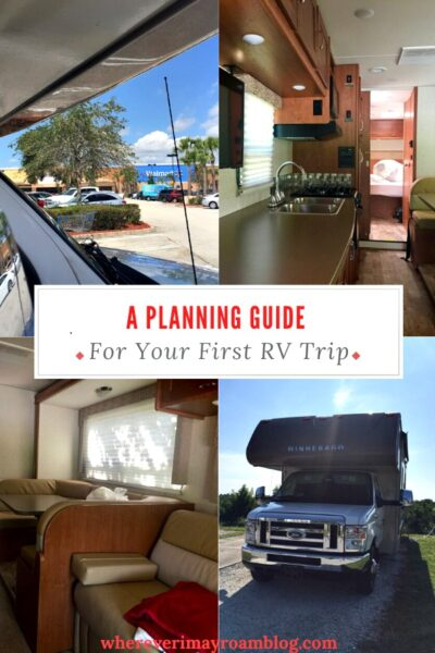 planning guide for your first Rv trip pin
