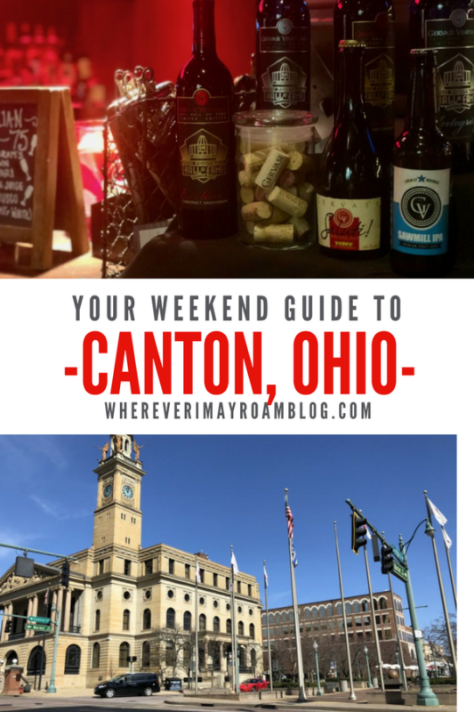 Follow our weekend guide to Canton, Ohio for a great trip filled with fun, good eats, and wine.