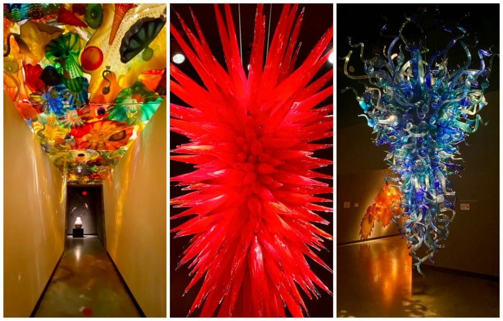 dale chihuly chandeliers and ceiling decorations
