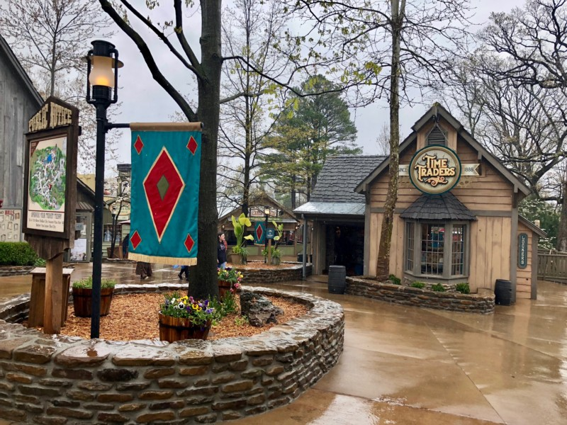 The charming walkways through Silver Dollar City.