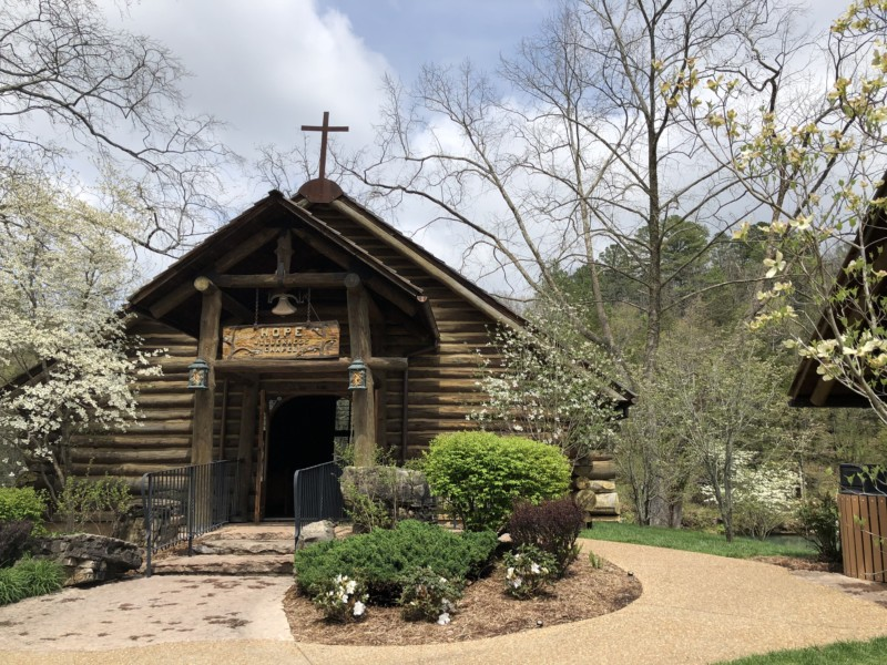 Charming church on the property of Dogwood Canyon.