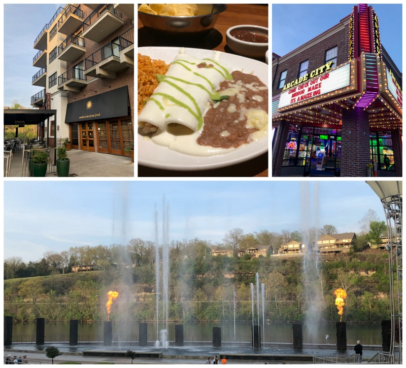 The Landing in Branson, Missouri is a great place to shop, dine, and watch the interactive musical water show.