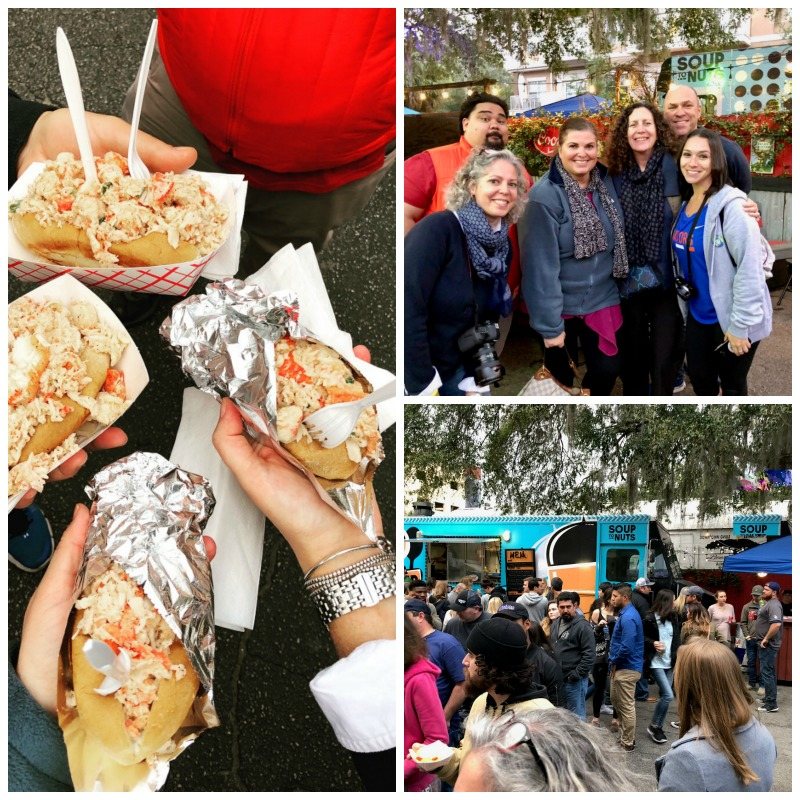 Checking out the food truck scene in Gainesville with other travel writers.