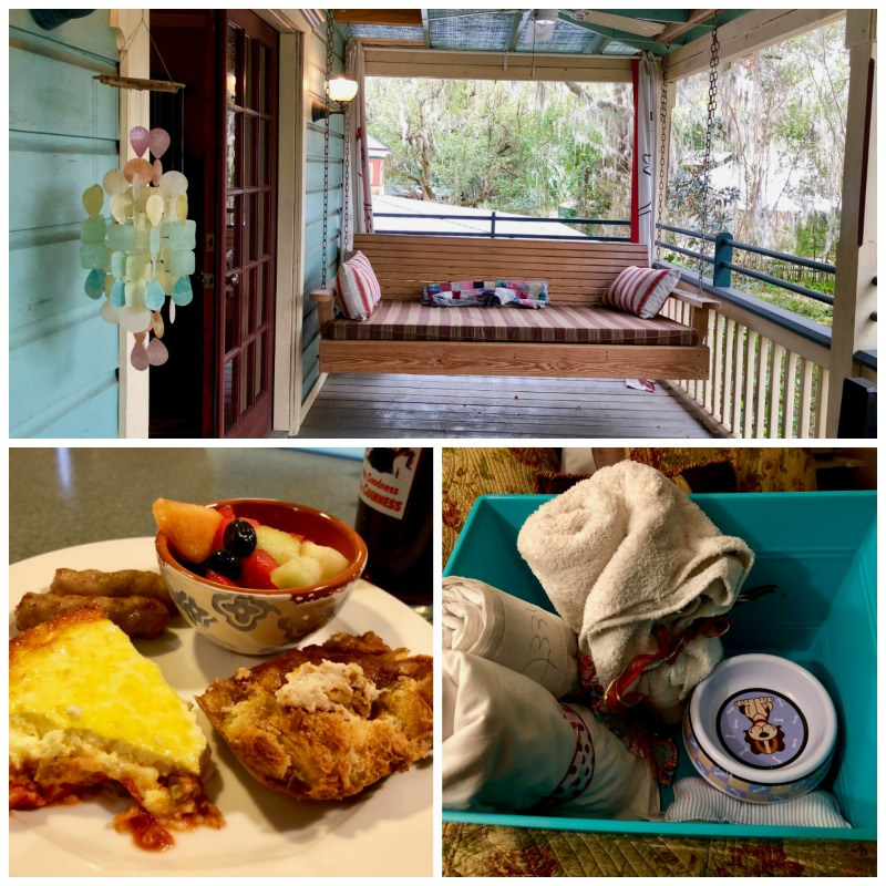 Our itinerary for Gainesville, Florida includes a stay at the Magnolia Plantation Bed and Breakfast.