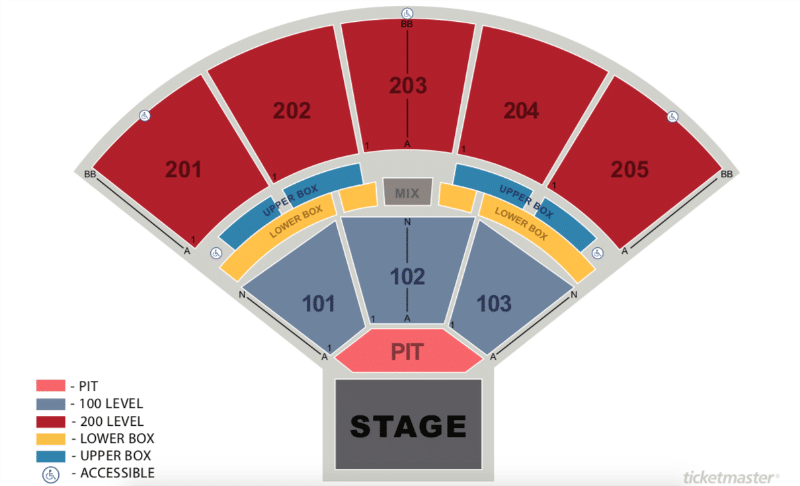 Here's the Brandon Amphitheater seating chart.