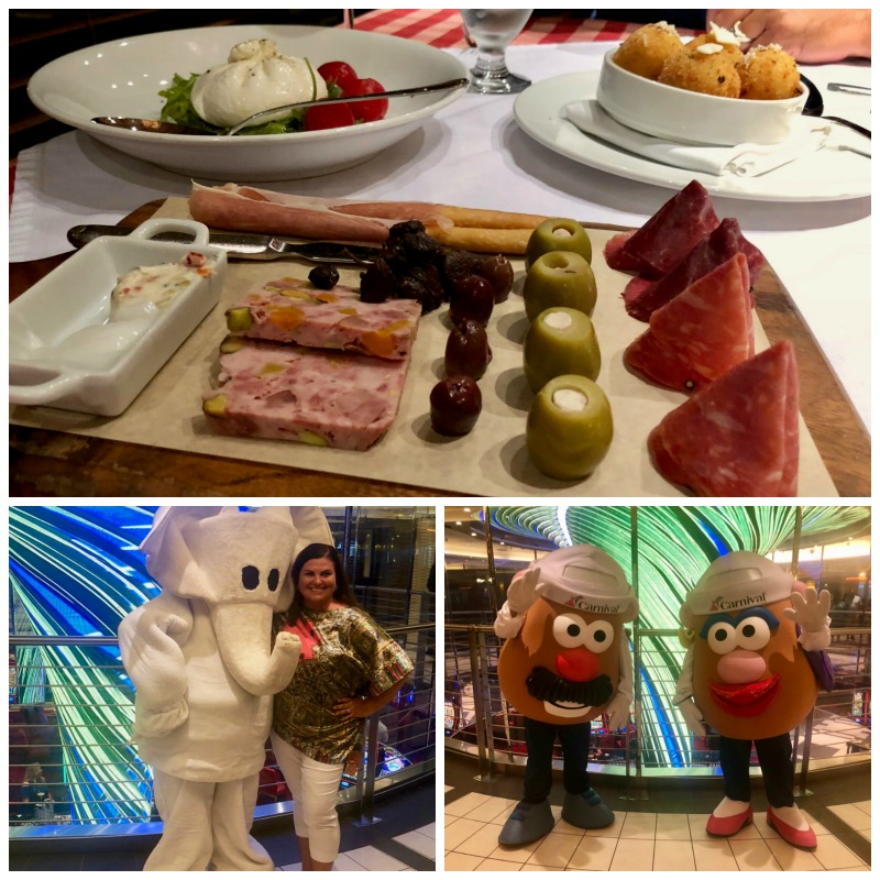 Fun character photo-ops and a tasty Italian restaurant are some of the things that will make you fall in love with Carnival Cruise Lines.