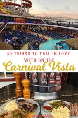 35 things to fall in love with carnival vista cruise lines pin