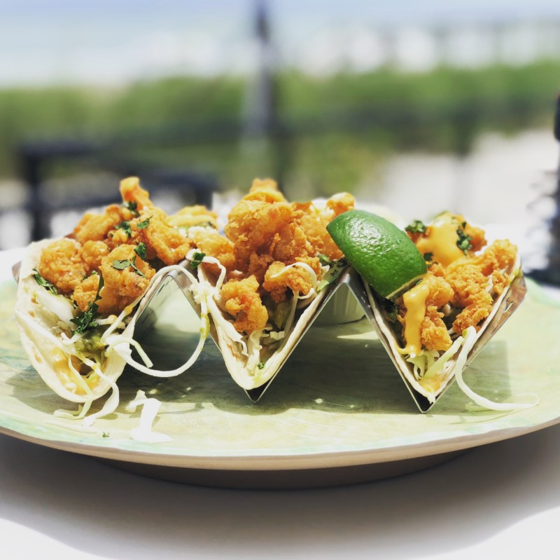 Make sure to try the amazing fish tacos at the Hutchinson Shores Resort.