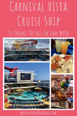 The Carnival Vista cruise ship has so many things to fall in love with that you are going to be swooning!