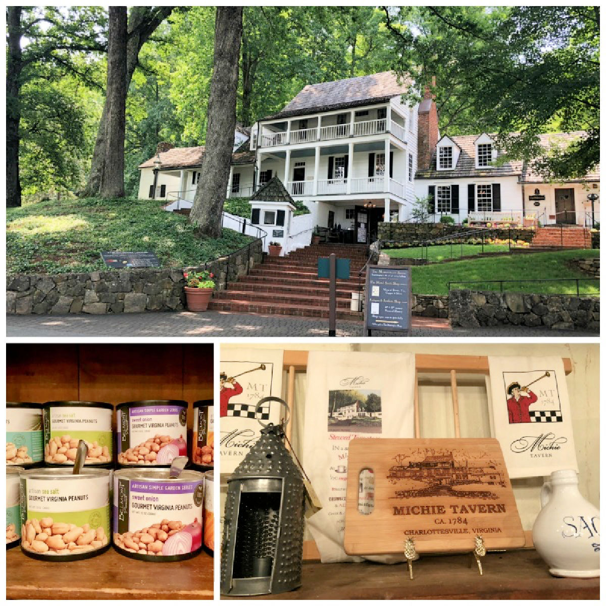 Be sure to have lunch at Michie Tavern while visiting Charlottesville, Virginia for amazing 18th century style foods.