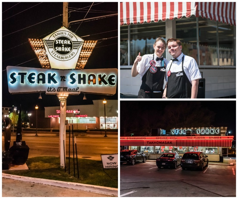 The original and retro Steak 'n Shake Restaurant is one of the cool things you'll see on Missouri's Route 66 road trip.