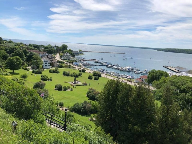 One of the things to do at Mackinac Island, Michigan is to take in the scenic views.
