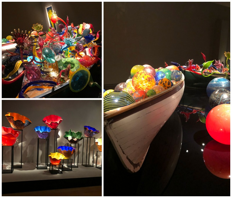 Dale Chihuly glass pieces at the Oklahoma City Museum of Art.