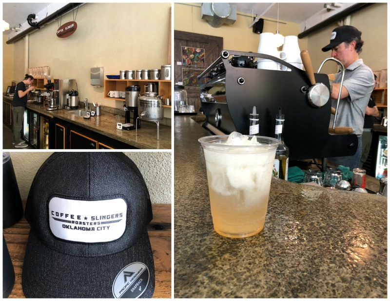 Grab a delicious coffee or Italian soda from Coffee Slingers in OKC.
