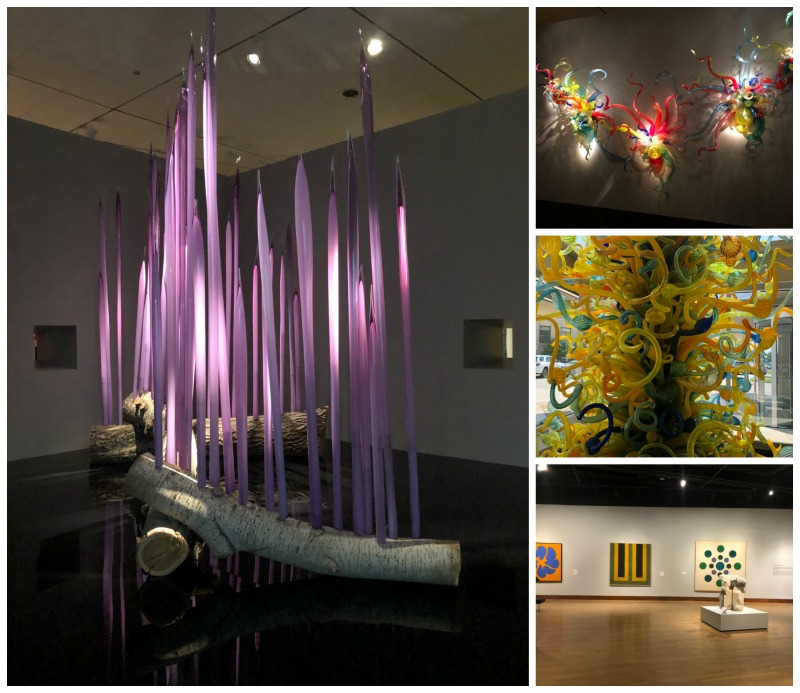 artwork and chihuly exhibit in Oklahoma City