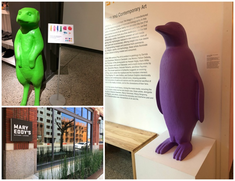 penguins and colorful animals at the 21C Museum Hotel.