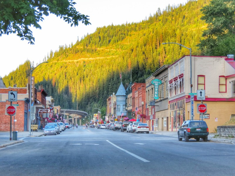 This is Wallace, Idaho, otherwise known as center of the universe.