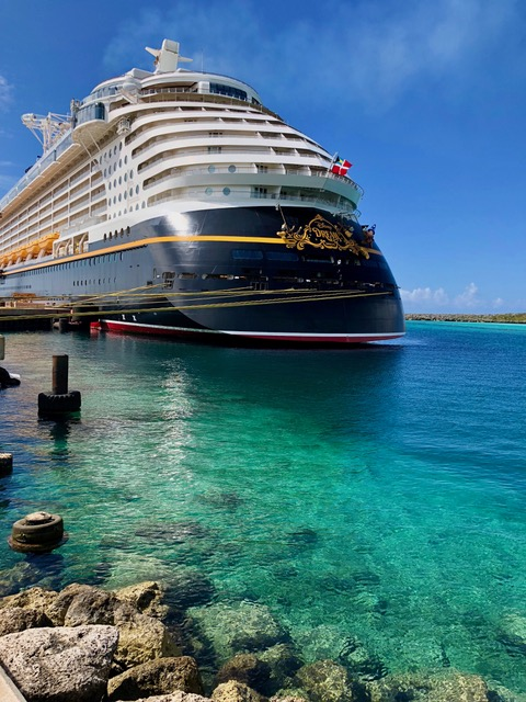 disney cruise ship at port