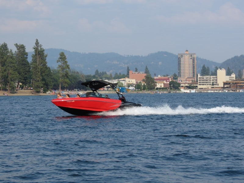 We just couldn't get enough of Lake Coeur D'Alene, so we also took a power boat ride.