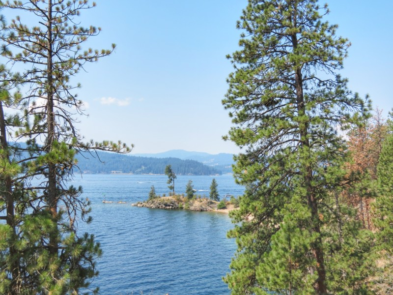 An easy hike on Tubbs Hill in North Idaho gives you views of quiet little coves, as well as occasional paragliders or seaplanes gliding across the lake