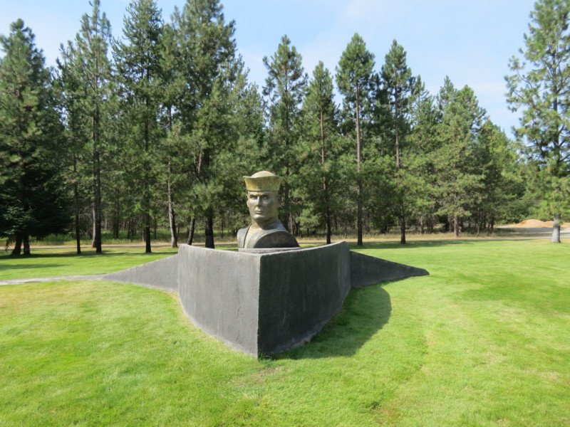 On your North Idaho road trip, be sure to visit the picturesque Farragut State Park memorial.