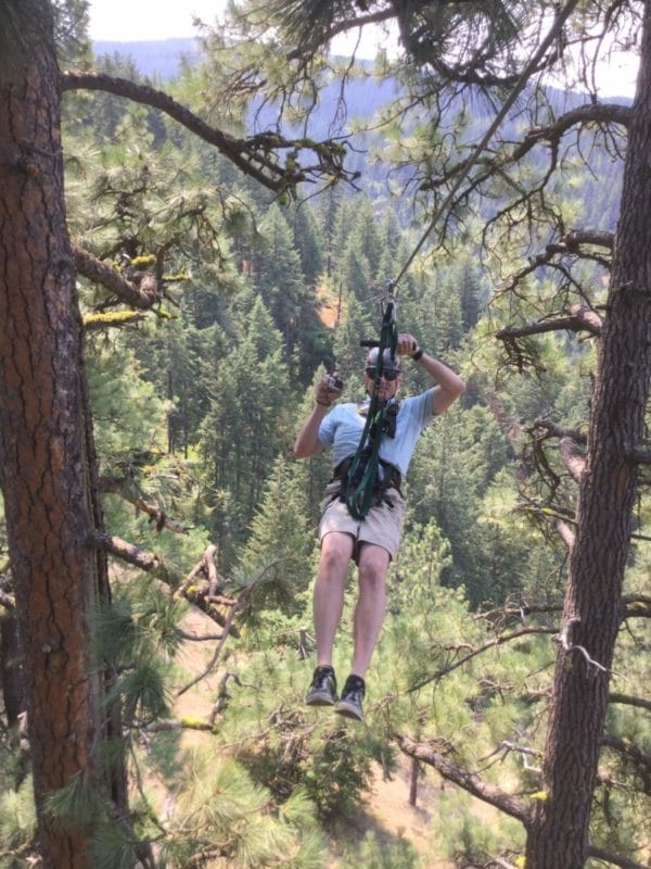 If you're up for a thrill, Timberline Adventures has an epic ziplining course in the tops of the trees on Coeur D'Alene mountain in North Idaho.