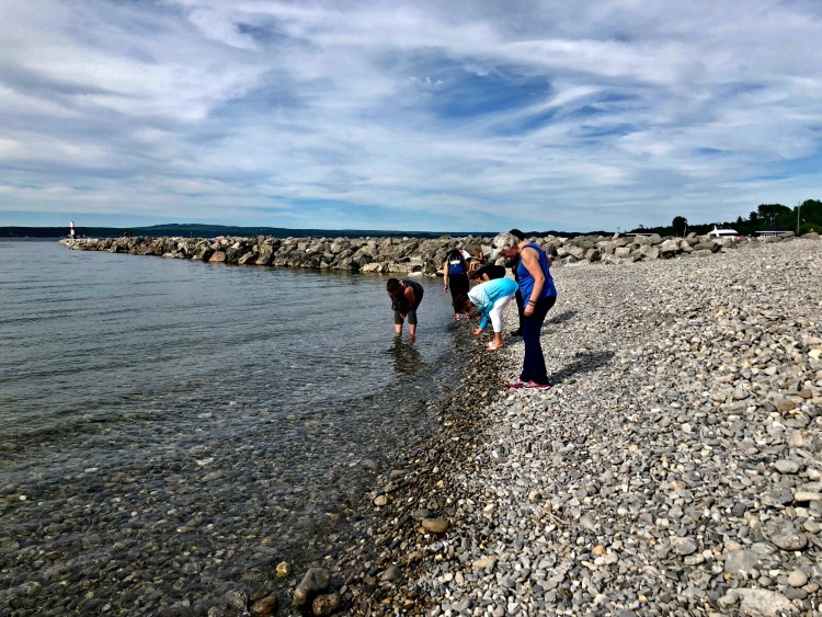 A great thing to do on your Northern Michigan road trip is to go in search of Petoskey stones in the town of Petoskey.