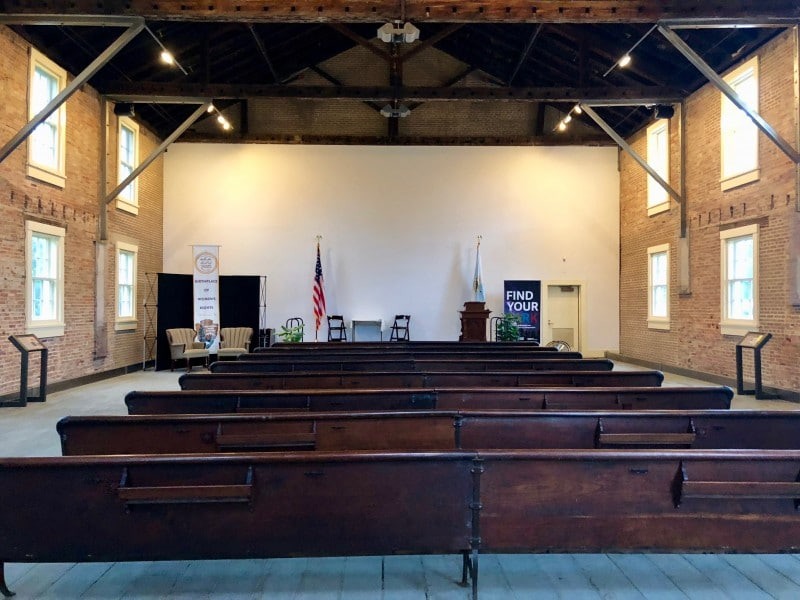 One of the best 50 things to do in the Finger Lakes is to tour the Wesleyan Church where the Women's Rights Convention was first held.