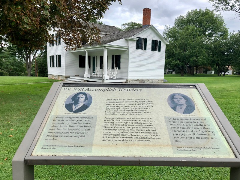 One of the best 50 things to do in upstate New York is to visit the Elizabeth Cady Stanton House and learn about her involvement in the women's rights movement.