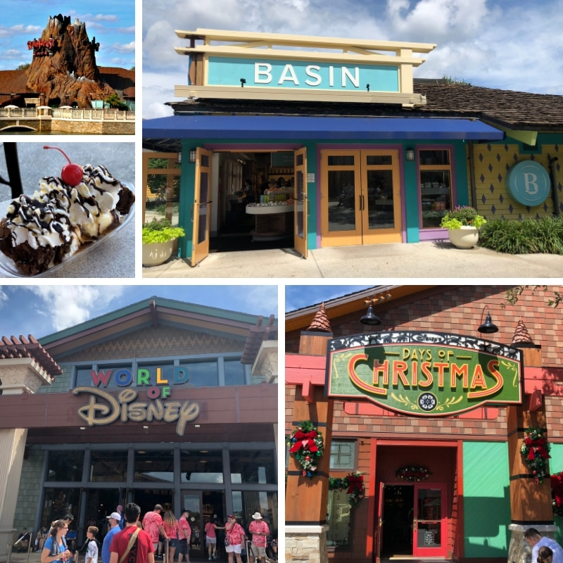 The Marketplace is one of the four areas of Disney Springs.