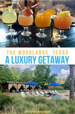 luxury getaway the woodlands pin