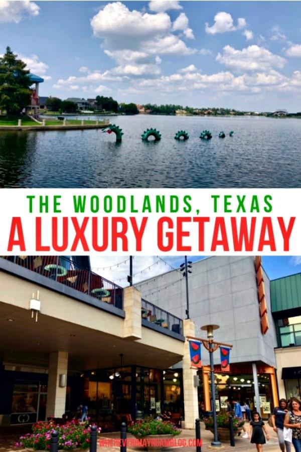 luxury getaway the woodlands texas pin