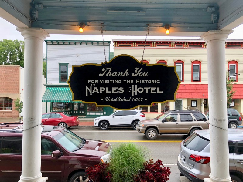 One of the best 50 things to do in the Finger Lakes is to take a ghost tour through the Naples Hotel.