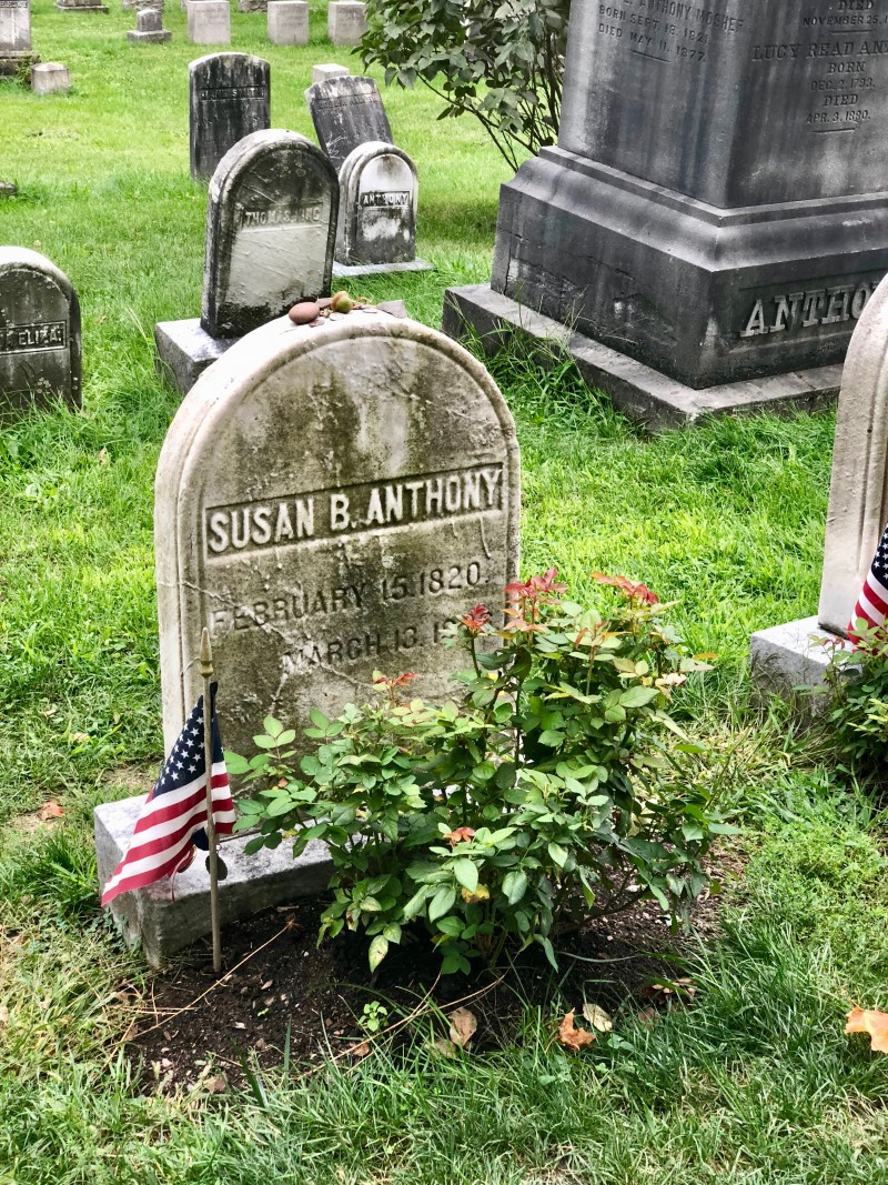 One of the best 50 things to do in the Finger Lakes is visit the gravesite of Susan B. Anthony and Frederick Douglass, buried at the same cemetery .