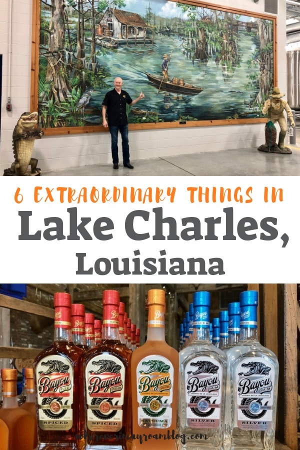 One of the extraordinary things in Lake Charles, Louisiana is delicious Bayou Rum spirits.