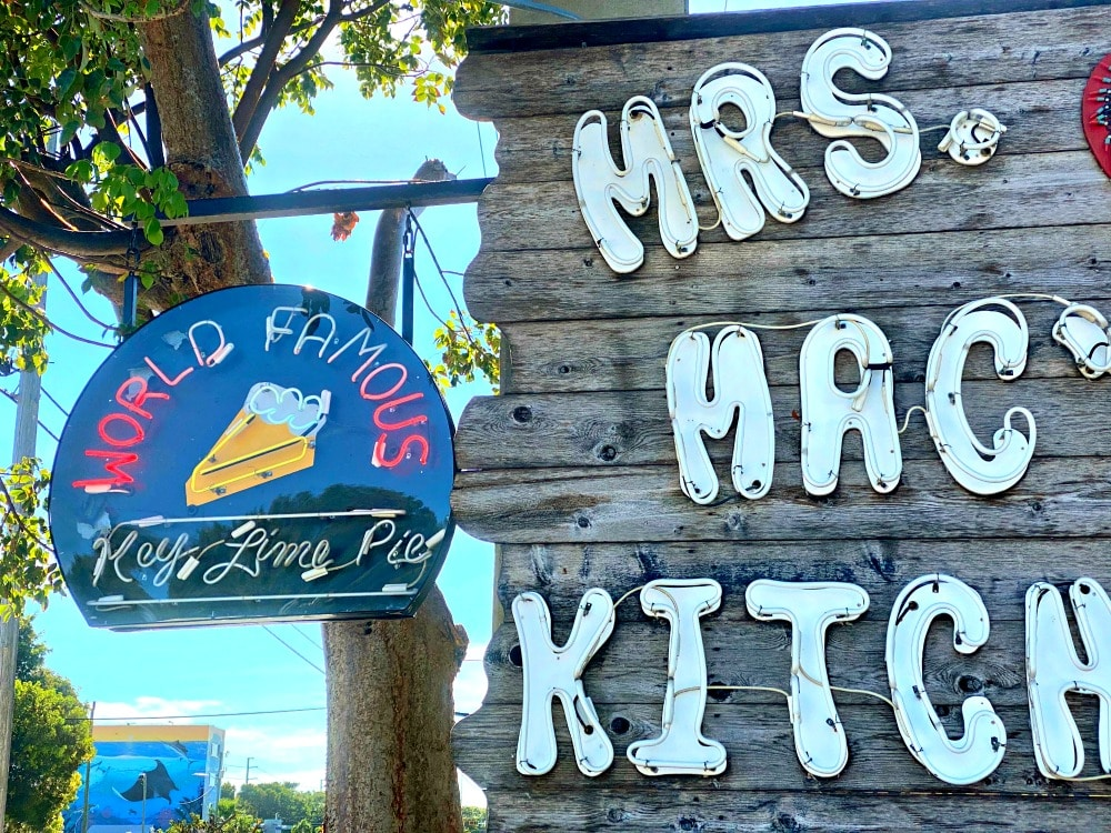 mrs. mac's world famous key lime pie sign