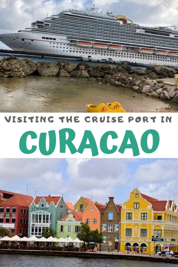 colorful cruise port curaçao pin