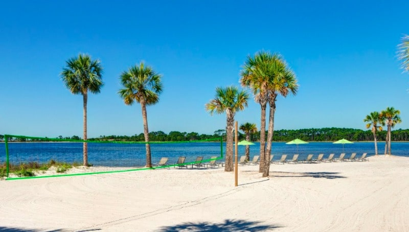 The private Bay Beach is one reason to stay at the Sheraton Bay Point Resort in Panama City Beach.