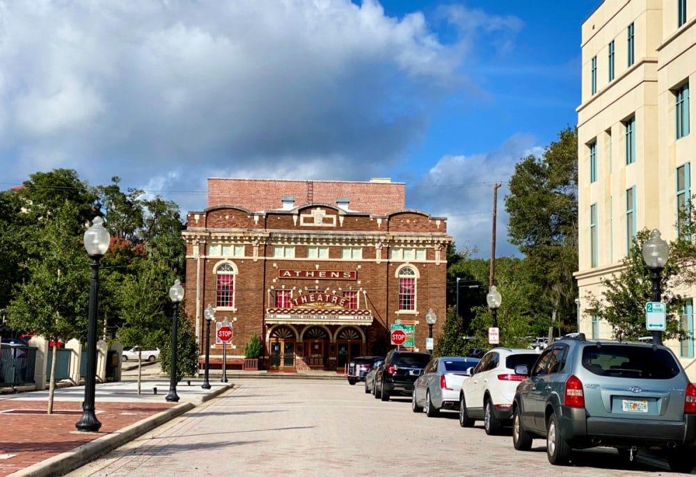 historic Athens Theatre in deland