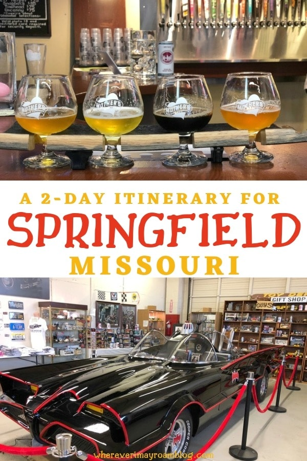 itinerary for Springfield Missouri pin