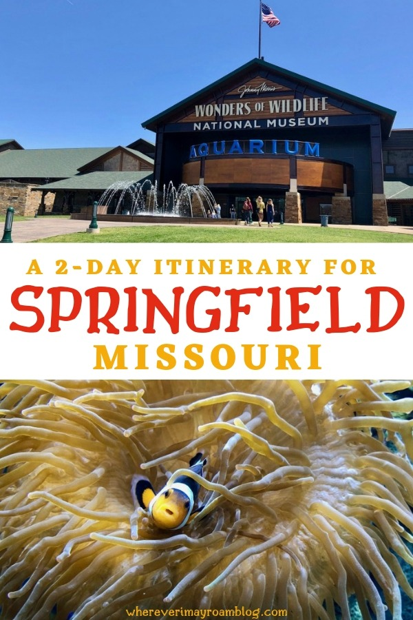 two day itinerary Springfield pin