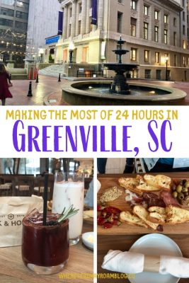 24 hours in Greenville South Carolina pin
