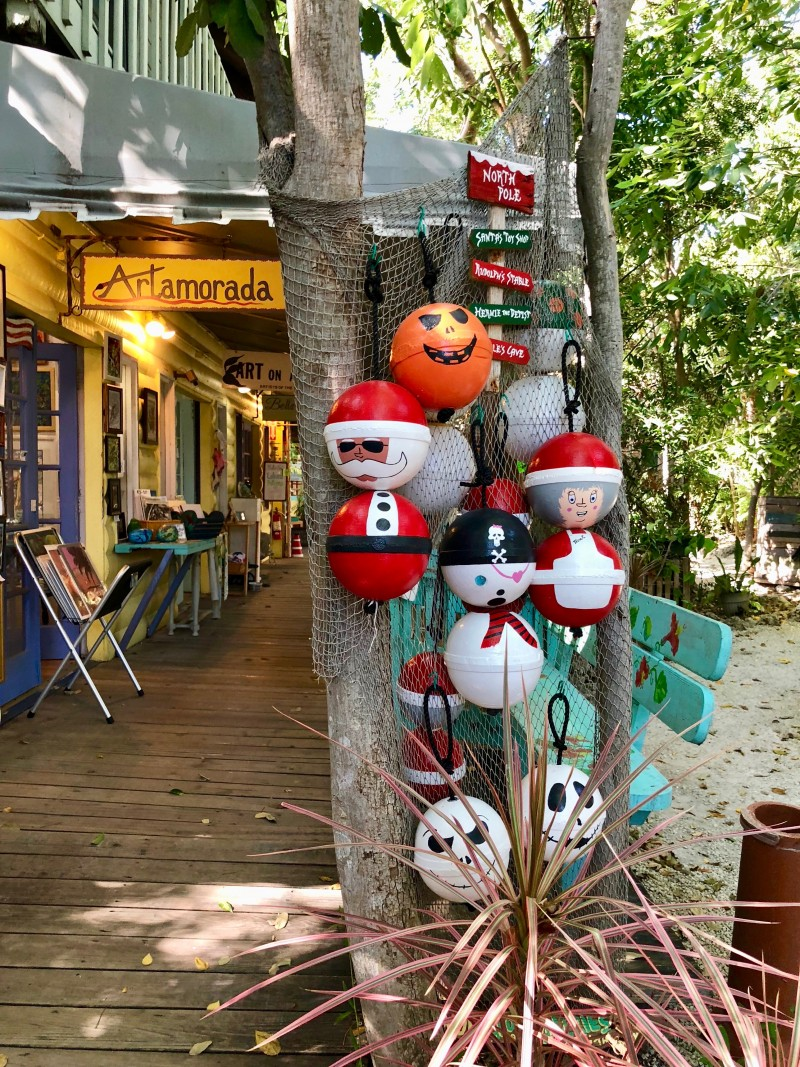 A trip to Islamorada, Florida should include browsing local artworks at Rain Barrel Artisan Village.