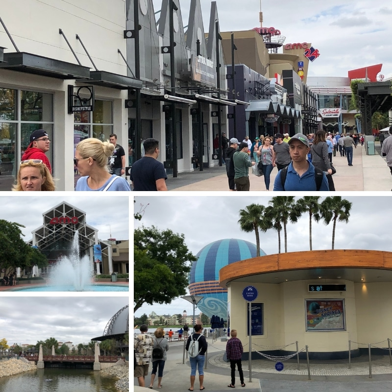 Most of the entertainment at Disney Springs is in the West Side.
